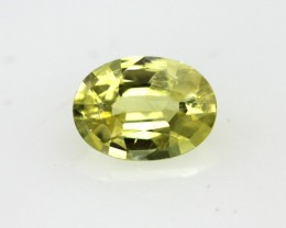 0.66cts Natural Australian Yellow Sapphire Oval Cut