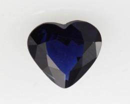 1.11cts Natural Australian Blue Sapphire Heart Cut