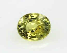 0.84cts Natural Australian Yellow Parti Sapphire Oval Cut