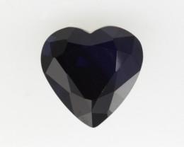 1.28cts Natural Australian Blue Sapphire Heart Shape