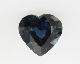 1.08cts Natural Australian Blue Sapphire Heart Shape