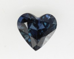 1.09cts Natural Australian Blue Sapphire Heart Shape