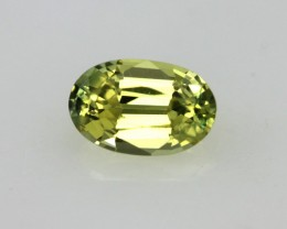 0.52cts Natural Australian Yellow Sapphire Oval Shape