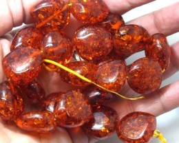 291.50 CTS AMBER BEADS STRANDS ANGC-144