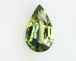 0.73cts Natural Australian Yellow Parti Sapphire Pear Shape