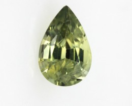 0.84cts Natural Australian Yellow Parti Sapphire Pear Shape