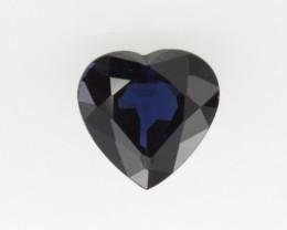 1.10cts Natural Australian Blue Sapphire Heart Shape