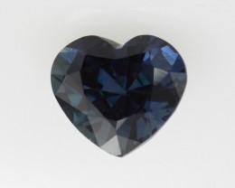 1.51cts Natural Australian Blue Sapphire Heart Shape