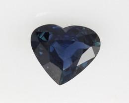 1.16cts Natural Australian Blue Sapphire Heart Shape