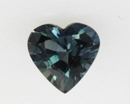 1.06cts Natural Australian Blue Sapphire Heart Shape
