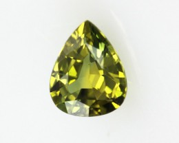 0.54cts Natural Australian Yellow Parti Sapphire Pear Shape