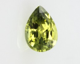 0.62cts Natural Australian Yellow Parti Sapphire Pear Shape