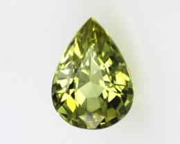 0.87cts Natural Australian Yellow Parti Sapphire Pear Shape