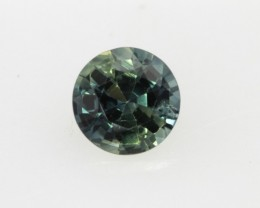 0.56cts Natural Australian Blue/Green Parti Sapphire Round Shape