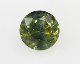 1.14cts Natural Australian Yellow/Green Parti Sapphire Rounf Shape