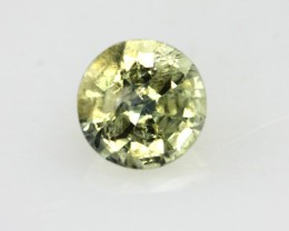 0.60cts Natural Australian Yellow Sapphire Rounf Shape