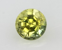 0.75cts Natural Australian Yellow Parti Sapphire Round Shape