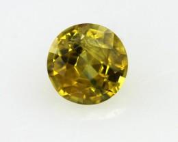 0.54cts Natural Australian Golden Sapphire Round Shape