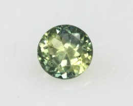 0.44cts Natural Australian Yellow Parti Sapphire Round Shape