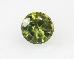 0.63cts Natural Australian Yellow Parti Sapphire Round Shape