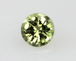 0.45cts Natural Australian Yellow Sapphire Round Shape