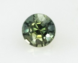 0.62cts Natural Australian Yellow Parti Sapphire Round Shape