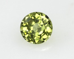 0,51cts Natural Australian Yellow Parti Sapphire Round Shape