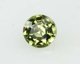0.47cts Natural Australian Yellow Parti Sapphire Round Shape