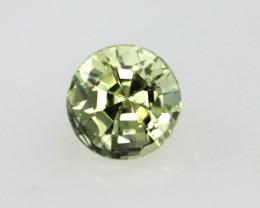 0.52cts Natural Australian Yellow Sapphire Round Shape