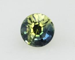 0.60cts Natural Australian Yellow/Blue Parti Sapphire Round Shape
