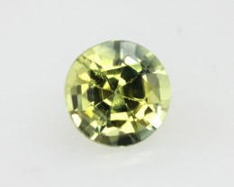 0.51cts Natural Australian Yellow Parti Sapphire Round Shape