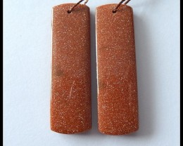 49.5 Cts Goldstone Earring Beads Pair