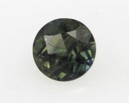 0.62cts Natural Australian Blue/Green Parti Sapphire Round Shape