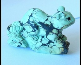 78cts Hand Made Turquoise Gemstone Mouse Carving,Luxurios Gift