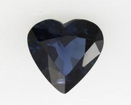 0.89cts Natural Australian Blue Sapphire Heart Shape