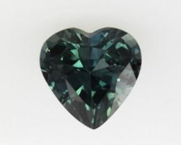 0.99cts Natural Australian Blue Sapphire Heart Shape