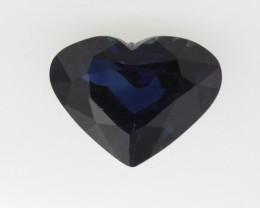 1.35cts Natural Australian Blue Sapphire Heart Shape