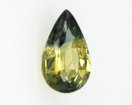 0.61cts Natural Australian Yellow Parti Sapphire Pear Shape