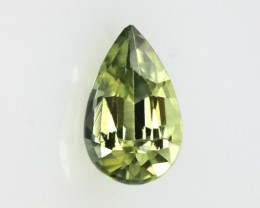 0.86cts Natural Australian Yellow Parti Sapphire Pear Shape