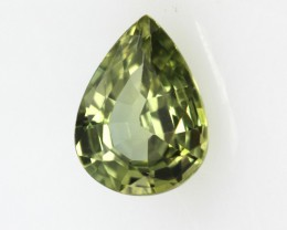 0.83cts Natural Australian Yellow Parti Sapphire Pear Shape