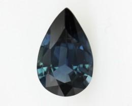 0.79cts Natural Australian Blue Sapphire Pear Shape