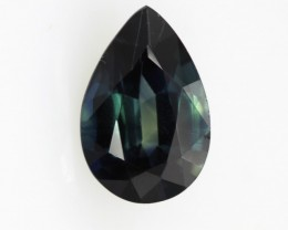 1.61cts Natural Australian Blue Sapphire Pear Shape