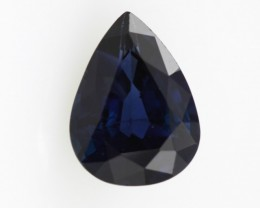 1.37cts Natural Australian Blue Sapphire Pear Shape