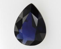 1.06cts Natural Australian Blue Sapphire Pear Shape
