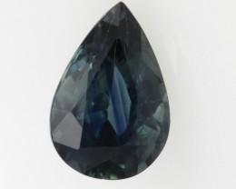 0.90cts Natural Australian Blue Sapphire Pear Shape