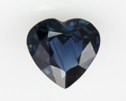 0.96cts Natural Australian Blue Sapphire Heart Shape