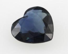 0.93cts Natural Australian Blue Sapphire Heart Shape