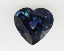 1.30cts Natural Australian Blue Sapphire Heart Shape