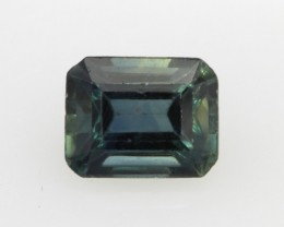 1.20cts Natural Australian Blue/Green Sapphire Emerald Cut