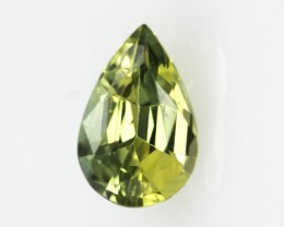 0.96cts Natural Australian Yellow Parti Sapphire Pear Shape